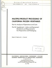 Cover of: Multiple-product processing of California frozen vegetables