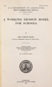 Cover of: A working erosion model for schools