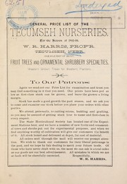 Cover of: General price list of the Tecumseh Nurseries | Tecumseh Nurseries