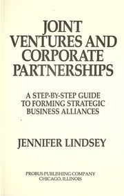 Cover of: Joint ventures and corporate partnerships