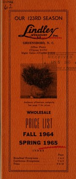 Cover of: Wholesale price list | J. Van Lindley Nursery Co. (Pomona, N.C.)