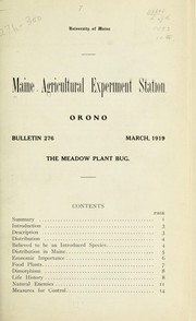 Cover of: The meadow plant bug