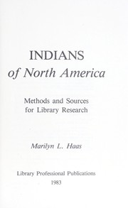 Cover of: Indians of North America | Marilyn L. Haas