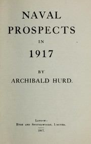 Cover of: Naval prospects in 1917