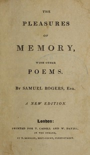 Cover of: The Pleasures of memory, with other poems... a new edition