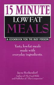 Cover of: 15 minute lowfat meals