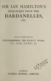Cover of: Despatches from the Dardanelles, etc