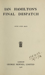Cover of: Final Despatch