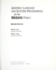 Cover of: Assembly language and systems programming for the M68000 family | Ford, William.