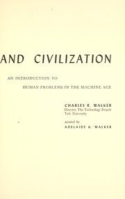 Cover of: Modern technology and civilization