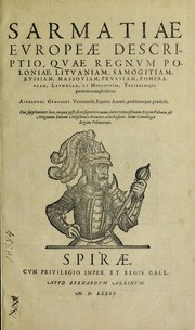 Cover of: Sarmatiae evropeae descriptio