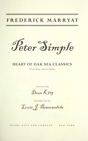 Cover of: Peter Simple
