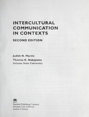 Cover of: Intercultural communication in contexts