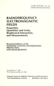 Cover of: Radiofrequency electromagnetic fields