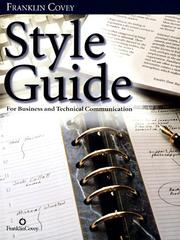 Cover of: Style Guide | Franklin Covey Company