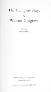 The complete plays of William Congreve.