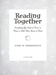 Cover of: Reading together | Diane Waxer Frankenstein