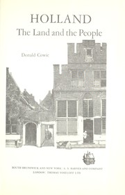 Cover of: Holland; the land and the people |