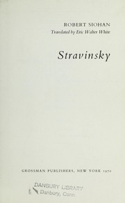 Cover of: Stravinsky