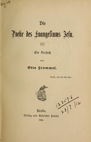 Cover of: Die Poesie des Evangeliums Jesu
