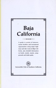 Baja California by Automobile Club of Southern California.