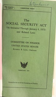Social Security Act by United States