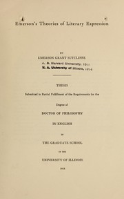 Cover of: Emerson's theories of literary expressions