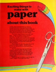 Cover of: Exciting things to make with paper