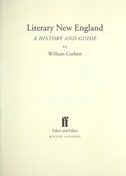 Cover of: Literary New England