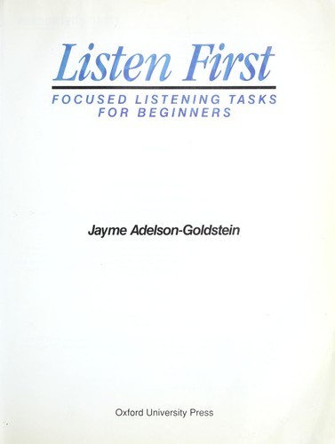Listen First by Jayme Adelson-Goldstein