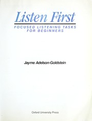 Cover of: Listen First | Jayme Adelson-Goldstein