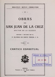 Cover of: Obras de San Juan de la Cruz