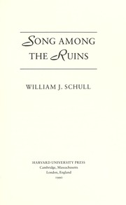 Cover of: Song among the ruins