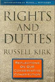 Cover of: Rights and duties