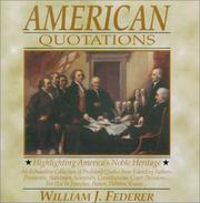 Cover of: American Quotations | William J. Federer