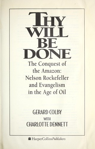 Thy will be done by Gerard Colby