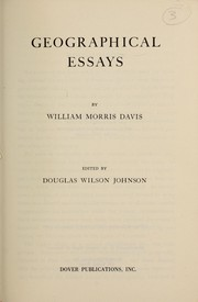 Cover of: Geographical essays