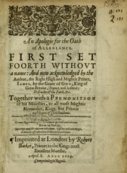 Cover of: An apologie for the Oath of allegiance