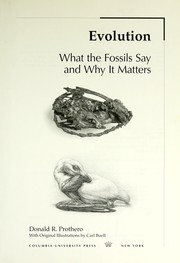 Cover of: Evolution : what the fossils say and why it matters |