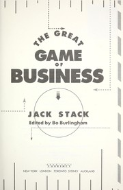 Cover of: The great game of business | Jack Stack