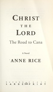Cover of: Christ the Lord | Anne Rice