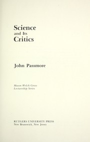 Cover of: Science and its critics