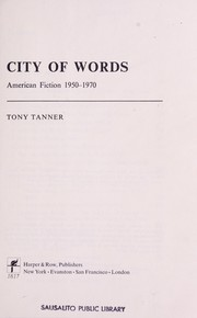 Cover of: City of words