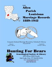 Cover of: Early Allen Parish Louisiana Marriage Index 1889-1973