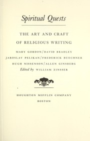 Cover of: Spiritual quests : the art and craft of religious writing |