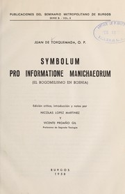 Cover of: Symbolum pro informatione manichaeorum