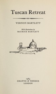 Cover of: Tuscan Retreat | Vernon Bartlett