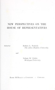 Cover of: New perspectives on the House of Representatives