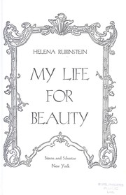 Cover of: My life for beauty |