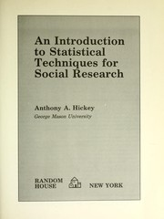 An introduction to statistical techniques for social research